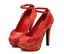 Women-039-s-Wedding-Red-Embroidered-Pumps-Platform-Floral-Buckle-Party-High-Heels thumbnail 2