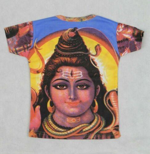 Shiva Print Retro Style Boys//Unisex Short Sleeve T-Shirt Approx Age 4-6