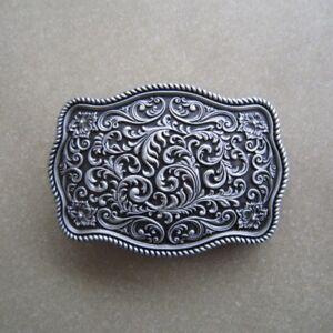 Western Flower Pattern Metal Belt Buckle