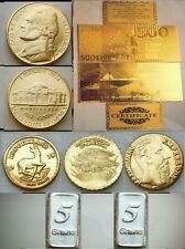 Lotto di Banconota da 500 Euro Monete D'oro in fdc 24k e Lingotti d'argento puro