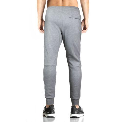 Men/'s Athletic Workout Running Jogging Gym Fitness Zip Pocket Jogger Sweat Pants