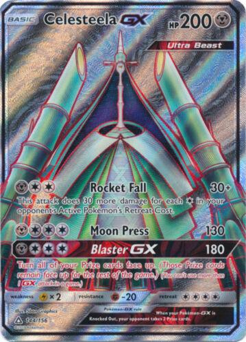 Sun /& Moon Ultra Prism Celesteela GX 144//156 Full Art Ultra Rare Pokemon Card