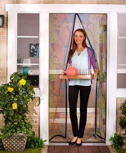 """40/"""" Instant Mesh Screen Door Magnetic Hands-Free Anti-Mosquito"""