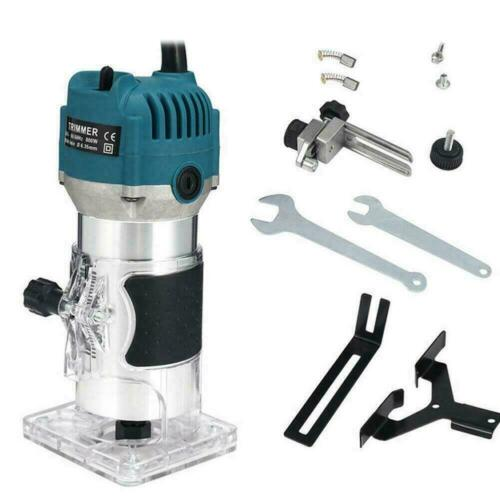 Electric Hand Trimmer Palm Router Laminate Joiners 1 working 800W Set Wood O7K4