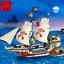 Bausteine Mini Blocks Pirat Kaper Kriegschiff Kampfschiff Ozean Figuren 487PCS