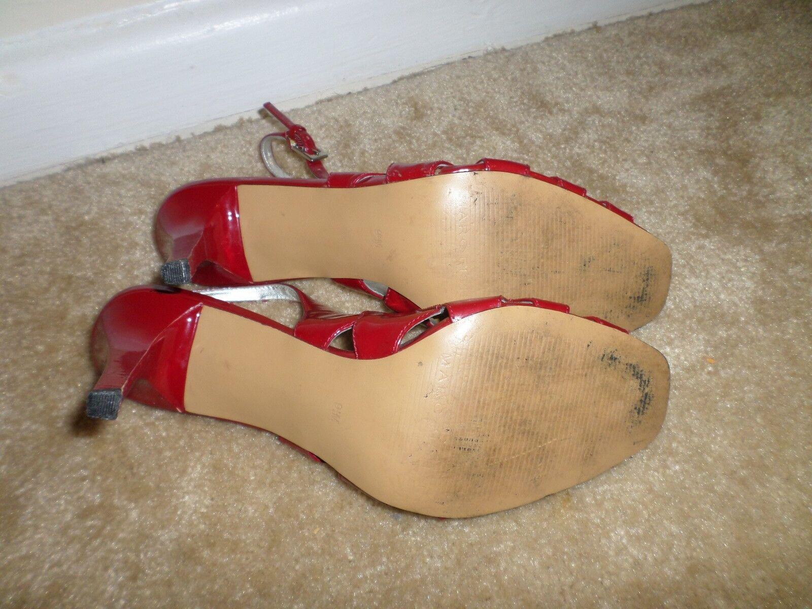 Marc Fisher ROT patent Leder peep 9.5 toe slingback heels, Größe 9.5 peep schuhe 335f78