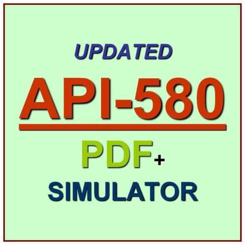 API Risk Based Inspection Professional Test API-580 Exam QA PDF+Simulator