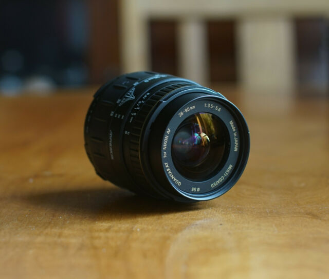 QUANTARAY 28 - 90mm 3.5 - 5.6 Zoom Lens For Nikon AF Made in Japan