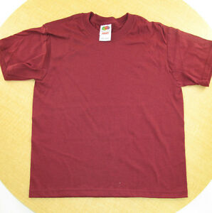 New-Fruit-of-the-Loom-Unisex-Youth-S-S-T-Shirts-100-Cotton-Size-10-12-14-16