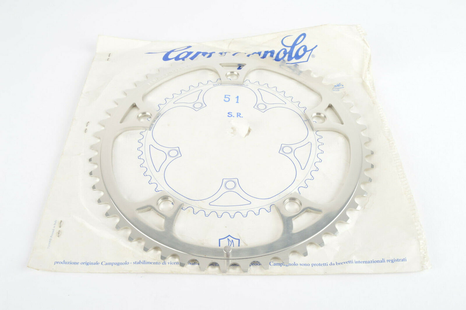 New Campagnolo Super record  a chainring en 51 teeth and 144 BCD nos NIB
