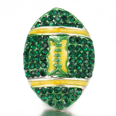 10pcs Crystal Alloy Charm Ginger Snap Button For Noosa Necklace//Bracelet N828