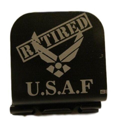 USAF Retired Laser Etched Aluminum Hat Clip Brim-it