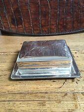 Japan/Silber,Silver/Mz./2 tlg.Zigarettendose m. Tablett um 1900-1920