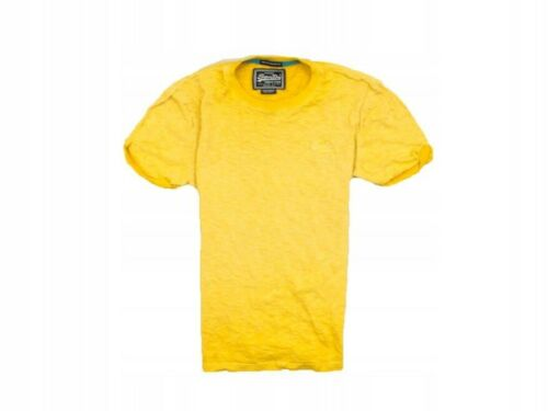 *B Superdry Mens T-shirt Cotton Yellow Tee size S