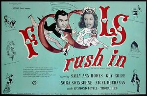 FOOLS-RUSH-IN-1949-Sally-Ann-Howes-Guy-Rolfe-Nora-Swinburne-TRADE-ADVERT