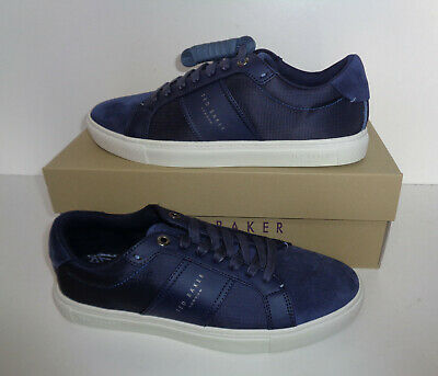 Ted Baker Mens QWUIN Leather Navy