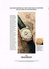 PUBLICITE ADVERTISING 114  1997  JAEGER-LECOULTRE collection montre MASTER DATE