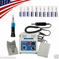 Usa Dental Electric Micro Motor 35krpm Polisher+straight Handpiece+burs 2.35mm