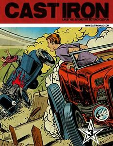 CAST-IRON-Issue-03-French-hot-rod-amp-custom-car-magazine-With-FREE-DVD