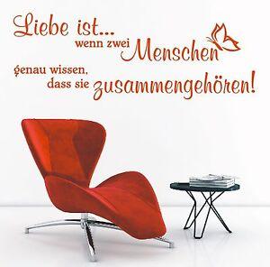 X1330-Wandtattoo-Spruch-Liebe-ist-zwei-Menschen-Wandsticker-Wandaufkleber