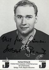 Originalautogramm - Herbert Erhardt (DFB Weltmeister 1954)