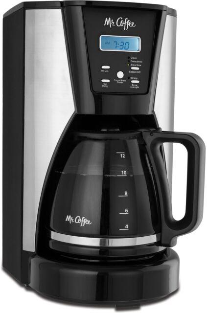 Mr Coffee Bvmc Mjx41 Nwf 12 Cup Programmable Coffee Maker Black