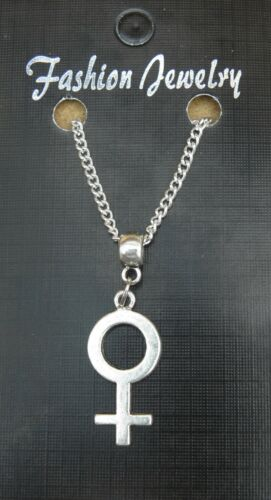 """18/"""" or 24 Inch Necklace /& Female Symbol Charm Pendant Lesbian Gay Pride Sign"""