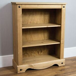corona mexican distressed waxed pine 2 shelf small low. Black Bedroom Furniture Sets. Home Design Ideas