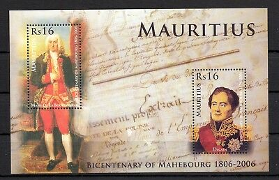 2019 Neuestes Design Mauritius Block: Bicentenary Of Mahebourg 1806-2006 Postfrisch Produkte HeißEr Verkauf