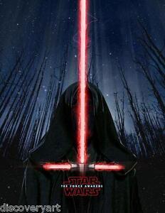 star wars: episode vii - the force awakens kylo ren portrait movie poster canvas | ebay