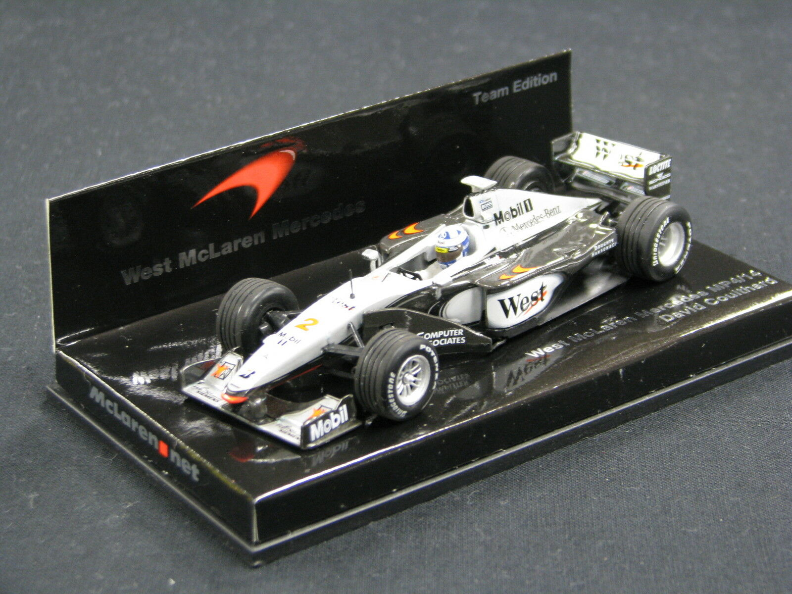 Minichamps West McLaren Mercedes MP4 14 1999 1 43  2 David Coulthard (GBR) (JS)