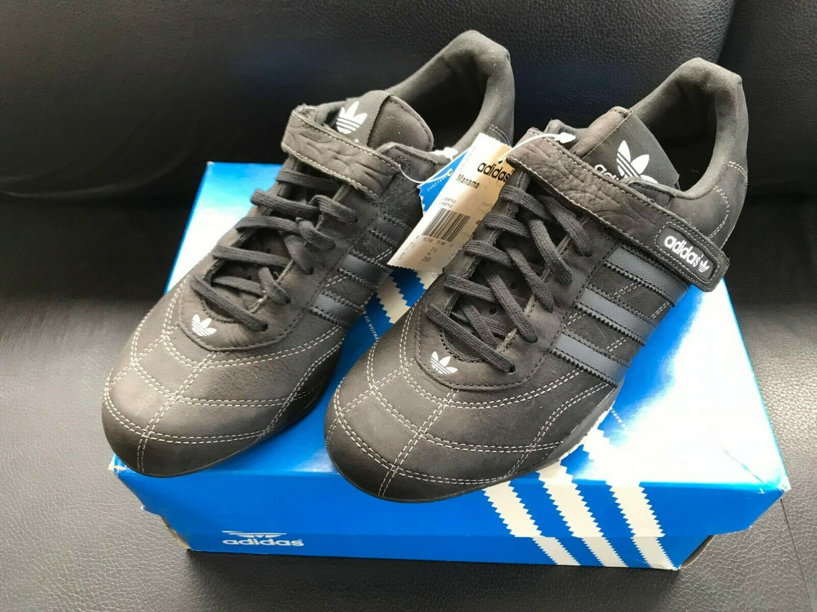 Adidas Goodyear Uomo adi Racer Driving Driving Driving Low Leather scarpe nero USA Dimensione 8 & 10 2da0db