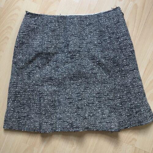 40 I Blanc Balenciaga £ Uk Paris Mini Fr Tweed et 1095 4 en Noir Gris 36 8 Us Jupe qv8qWz4w