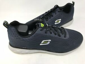 NUOVO-Skechers-Uomo-Lacci-Athletic-training-Scarpe-Dark-Navy-50080-182P-TZ