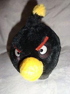 Angry-Bird-Black-Ball-7-034-Plush-Soft-Toy-Stuffed-Animal