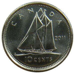 (f53) - Kanada Canada - 10 Cents 2011 - Fischereischoner Schiff - Unc - Km# 492 üPpiges Design
