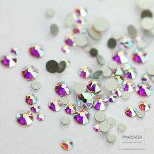 9ec05e0dfcc Image is loading Swarovski-Crystals-AB-flat-back-stones-rhinestones-gems-