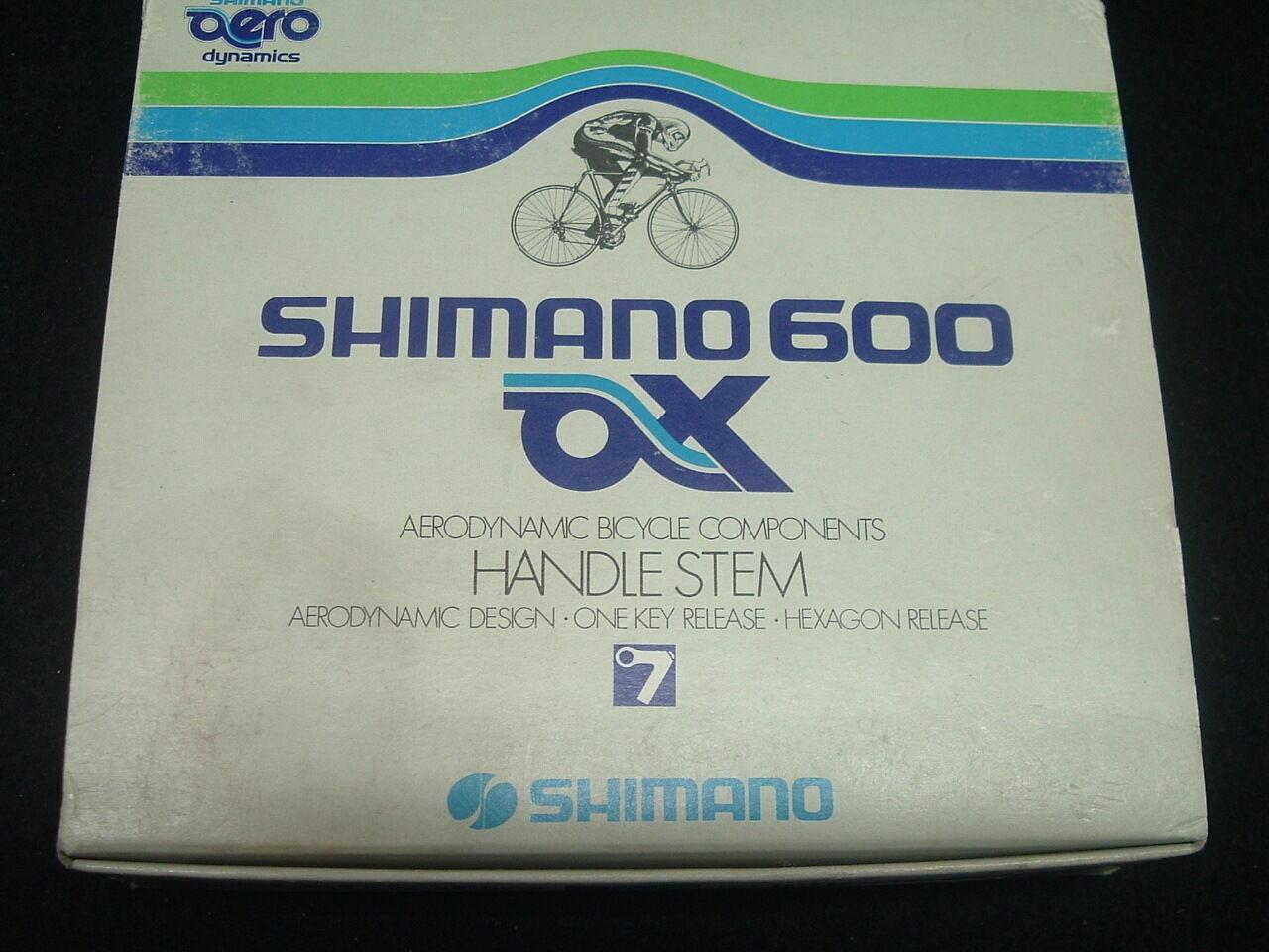 Shimano 600 Hacha Aero Nuevo   Nos 110mm Potencia Vintage- 22.2mm X 25.4mm-
