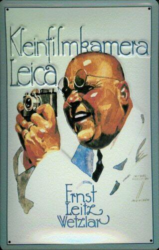 Leica Kleinbildkamera Blechschild Schild gewölbt Metal Tin Sign 20 x 30 cm