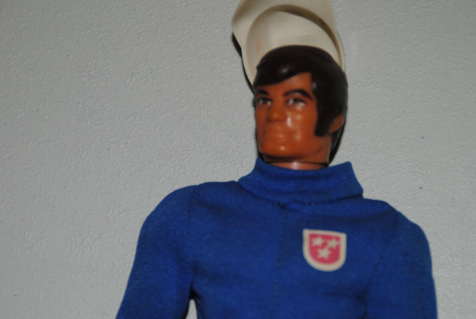 BIG JIM MATTEL CIPSA KID ACERO MEXICAN FIGURE   Blau JUMPSUIT     RARE