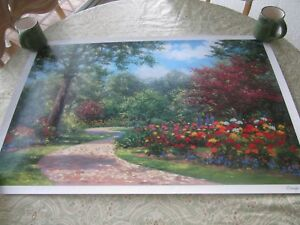 Seriolithograph-SUMMER-ENCHANTMENT-signed-SHAEFER-MILES-w-COA-NEW-in-Tube