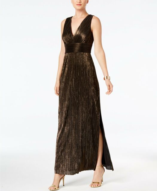7f8da22cc15e Jessica Howard Black Women 12 Metallic Empire Waist Maxi Dress #077 ...