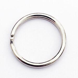 """WHOLESALE Lot 100/500/1000 25mm 1"""" inch Diameter Split Nickel Plated Key Rings"""