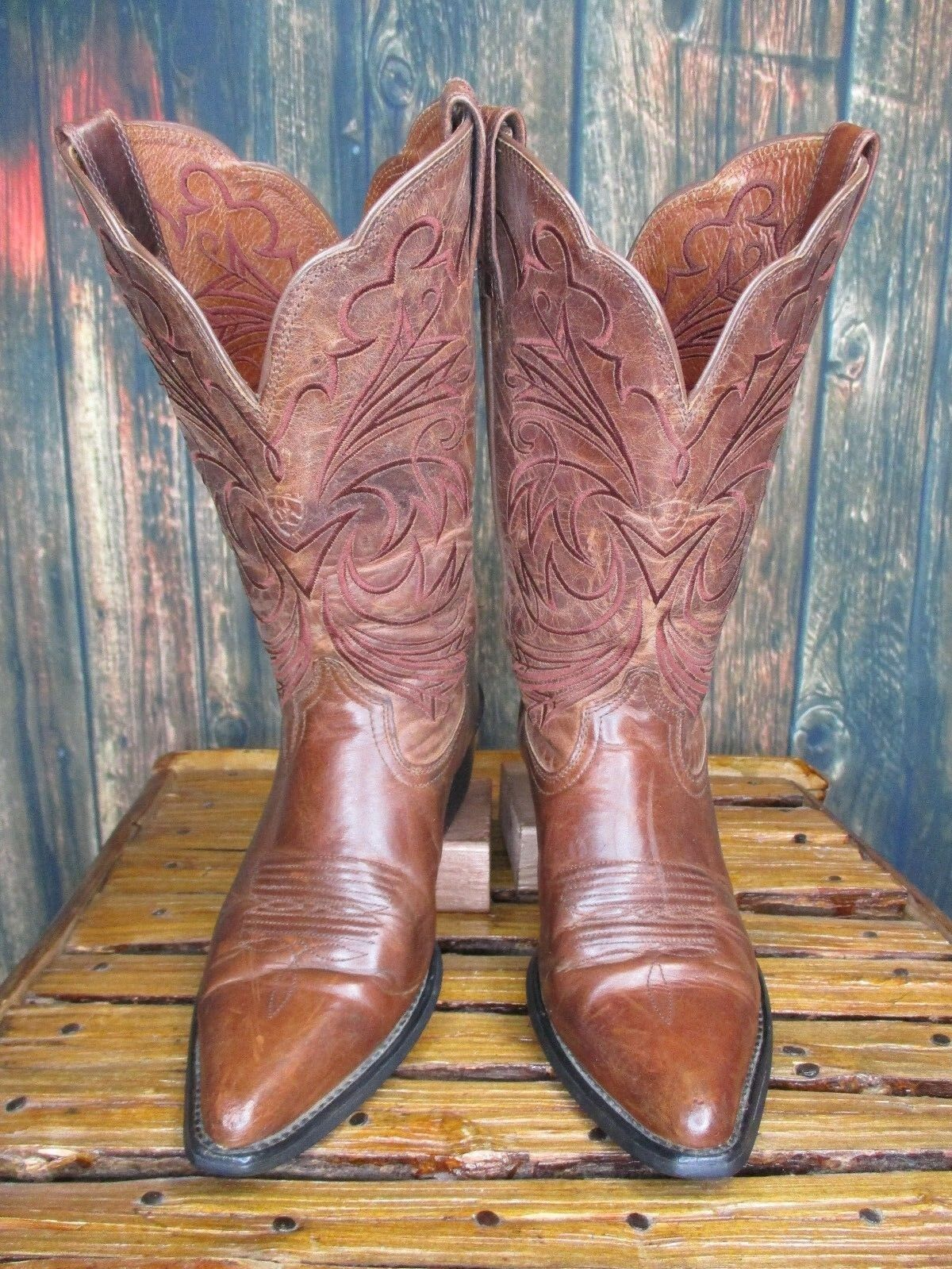 Ladies Ariat Brown Leather Pointed Toe Western Cowboy Cowboy Cowboy Boots sz  6.5 B c68f1f