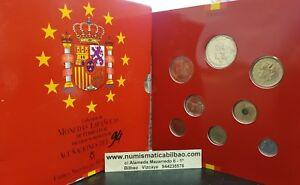 ESPANA-1994-CARTERA-OFICIAL-FNMT-RARA-1-5-10-25-50-100-200-500-PESETAS-SET-SC