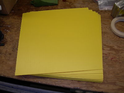 "LOT OF 5 TRANSLUCENT YELLOW STYRENE POLYSTYRENE PLASTIC SHEET .015/"" x 6/"" X 6/"""