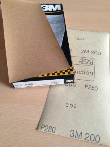 Schleifpapier 115x280mm o.L 100 Stk. 3M P280 200