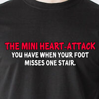 The Mini Heart-attack You Have When Ur Foot Misses One Stair Retro Funny T-shirt
