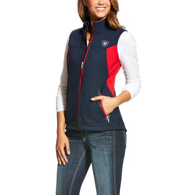 NEW  Ariat Team Softshell Vest Navy Sizes S - L