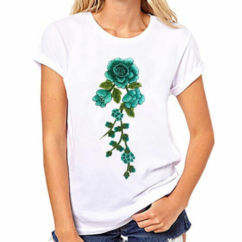 Floral Flower Applique Clothing Embroidery Patch Sticker Iron On Sew Cloth New
